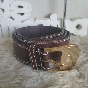Medium M Michael Kors Genuine Leather Belt